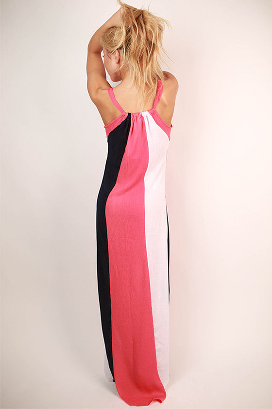 Style It Up Color Block Maxi Dress in Calypso