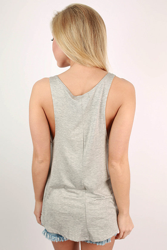 Tacos & Tequila Graphic Tank in Grey