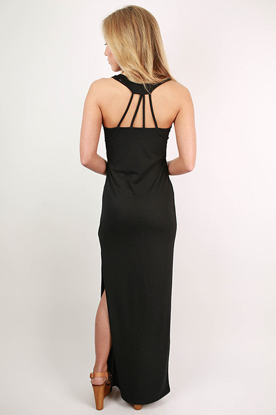 Hollywood Hottie Maxi Dress in Black
