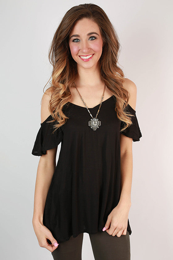 The Cold Shoulder Top in Black