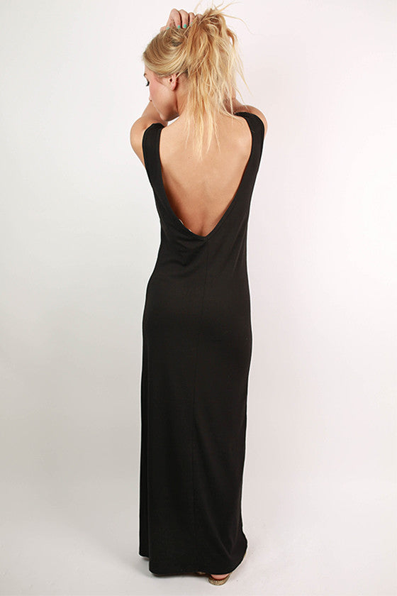 Off the Runway Maxi in Black