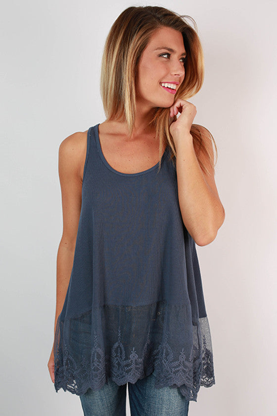Too Hot To Handle Tank in Navy