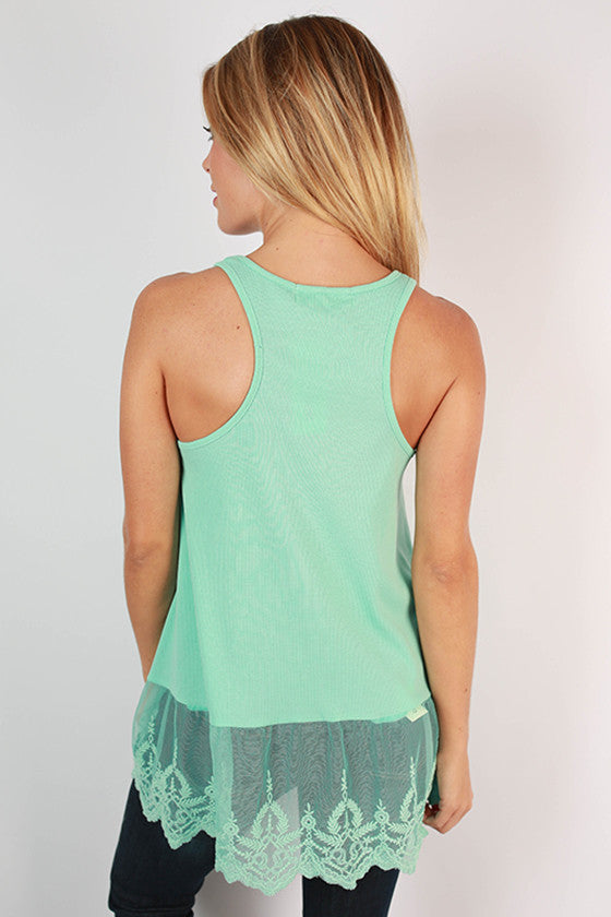Too Hot To Handle Tank in Aqua
