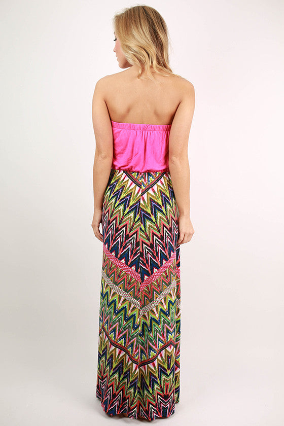 Barcelona Beauty Maxi in Hot Pink