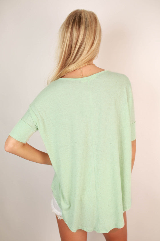 Tell Me About It Tee in Mint