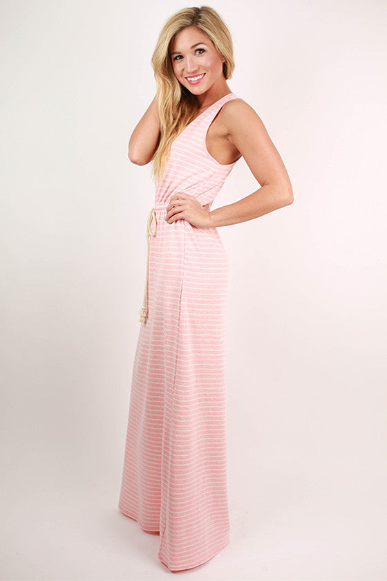 Memory Lane Stripe Maxi Dress in Pink