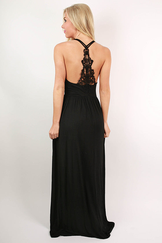 Summer Sunrise Maxi Dress in Black
