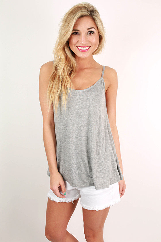 Dreamsicle in Rome Tank in Grey