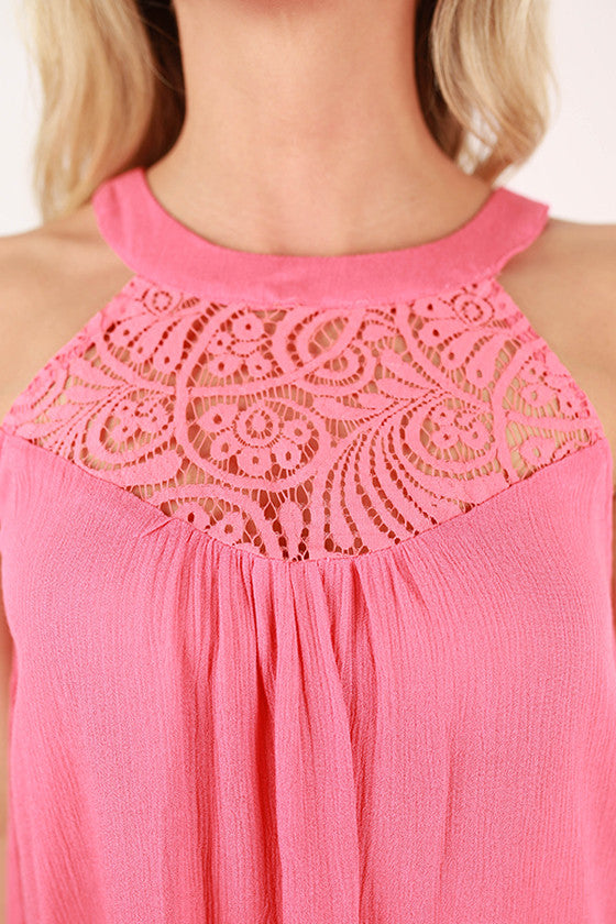 Wisteria Lace Tank Top in Calypso