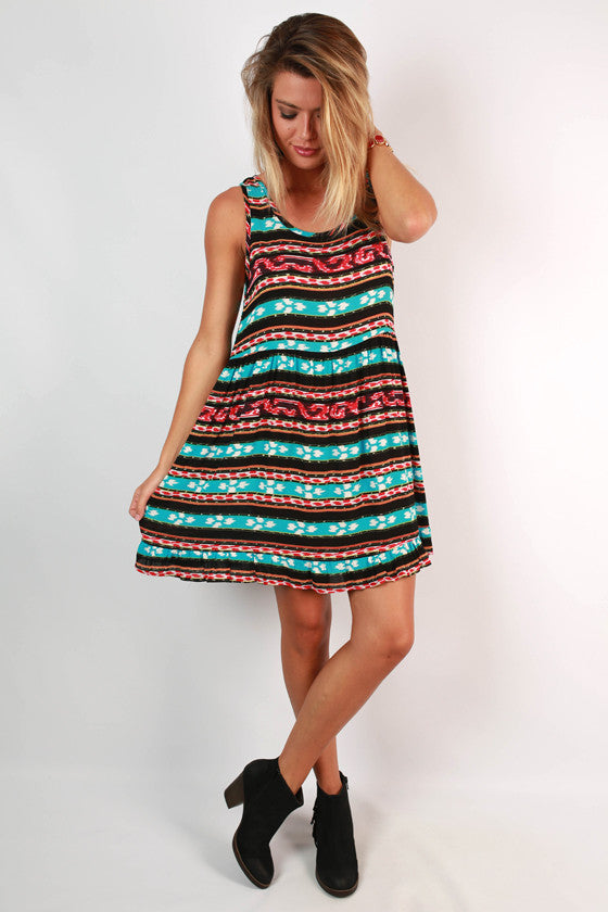 Block Party Twirl Dress in Black