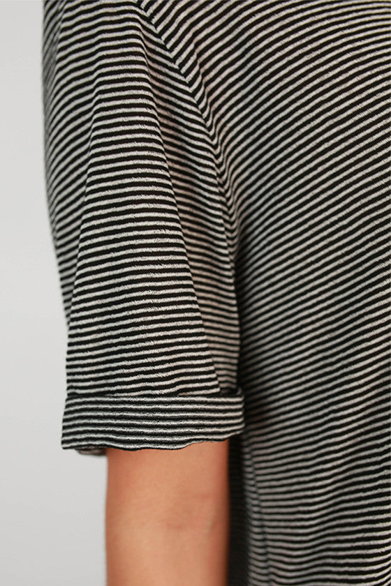 Study With Me Stripe T-Shirt Dress in Black
