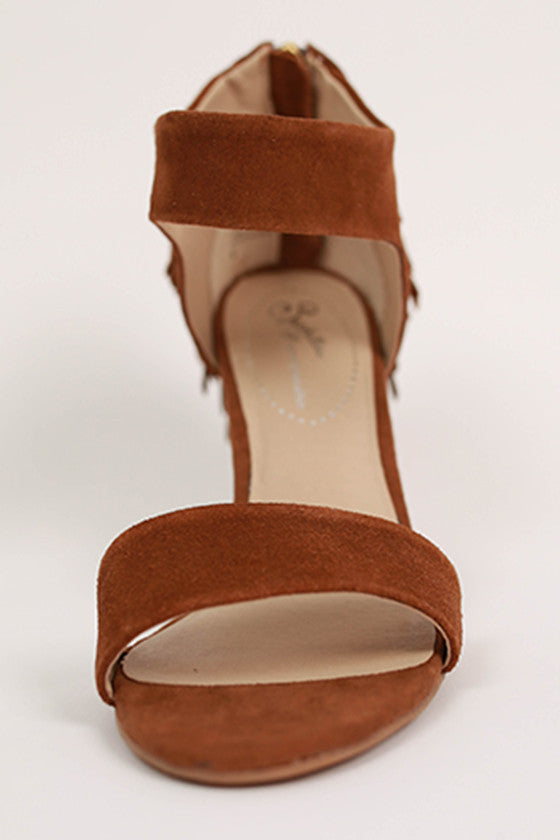 Hello Lovely Suede Heel in Mocha