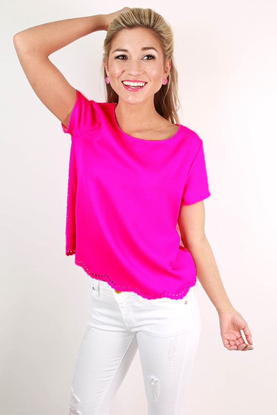 Take My Breath Away Top in Magenta
