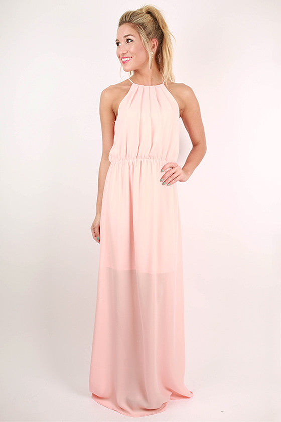 Brunch Hour Maxi Dress in Peach