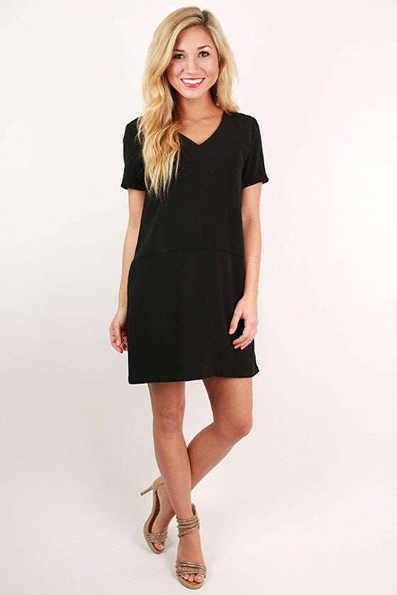 Cosmos in The City Shift Dress in Black