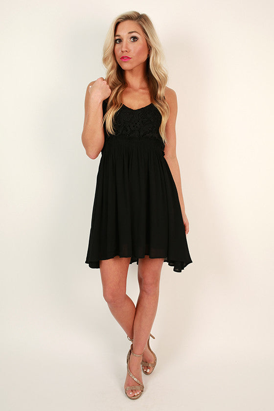 The Mini Reveal Dress in Black