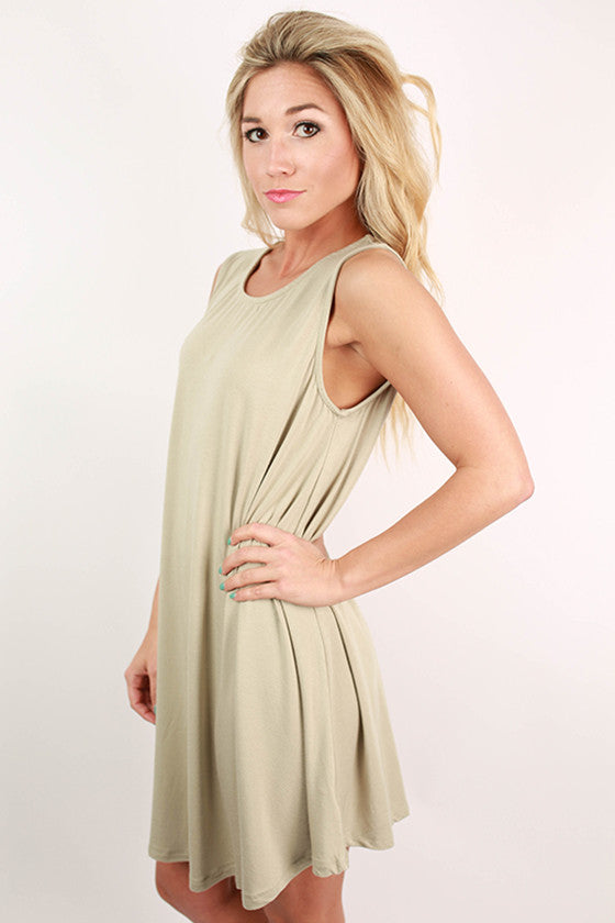 Basic Beauty Twirl Dress in Sage