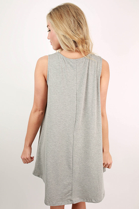 Basic Beauty Twirl Dress in Grey