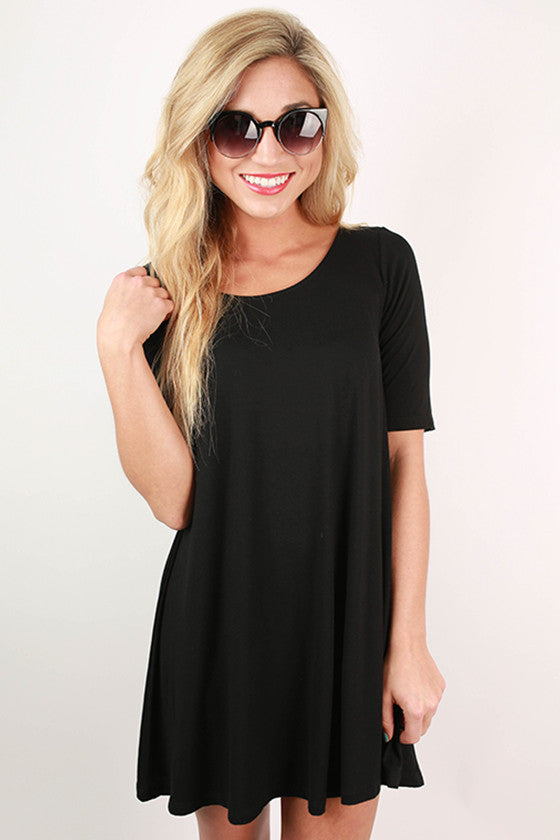 The Wayfarer Tunic Dress in Black