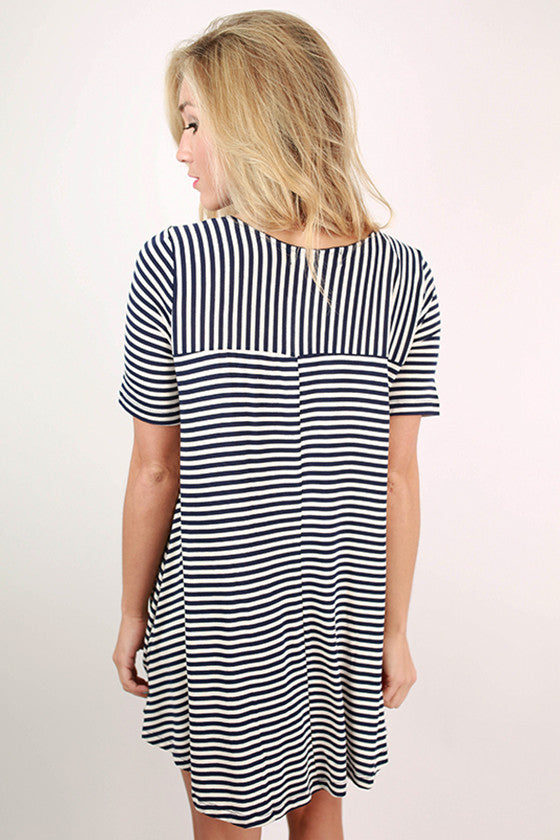 The Wayfarer Stripe Tunic Dress in Navy