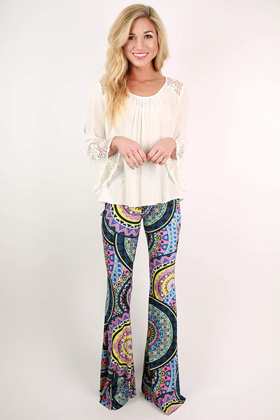 Go With The Flow Print Pants in Black