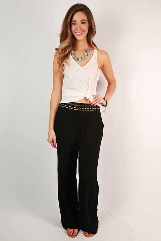 Hello Gorgeous Pants in Black