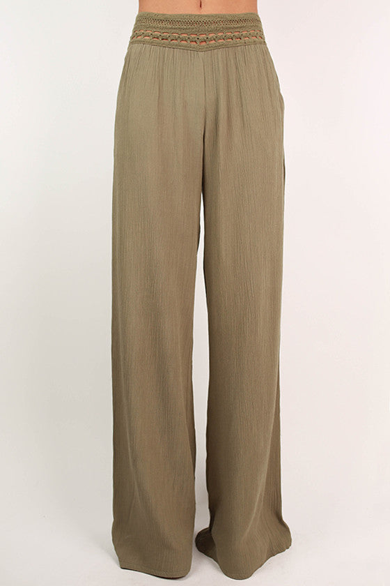 Hello Gorgeous Pants in Sage
