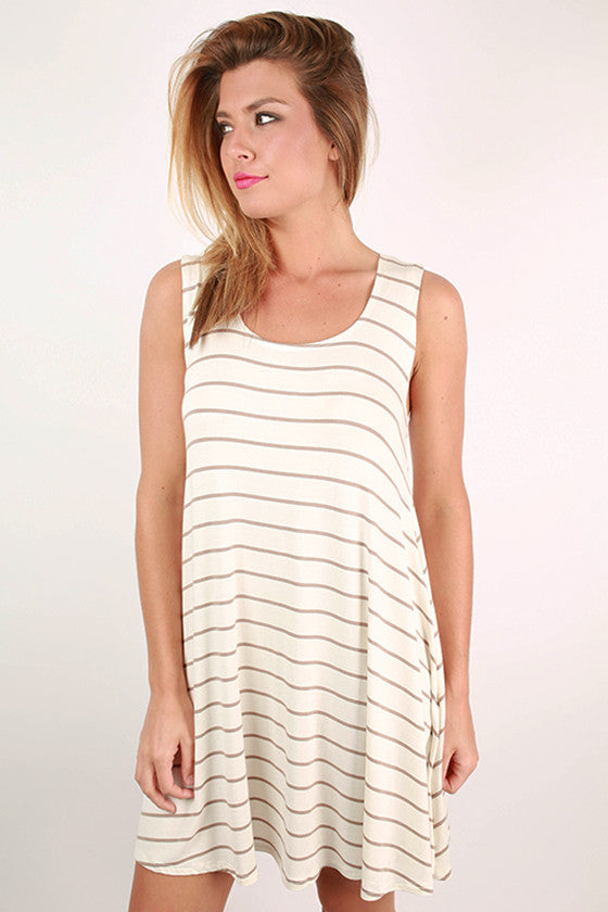 Swoon Over Me in Stripes Tunic Dress