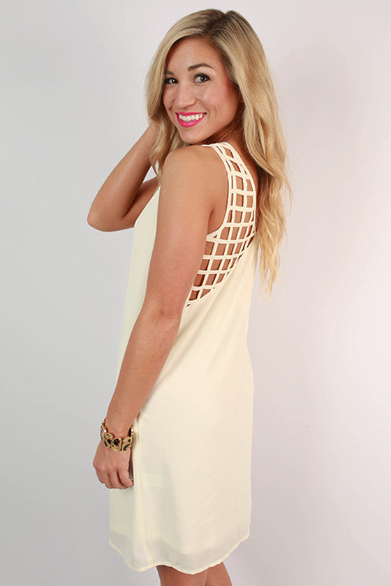 Weekend Ready Shift Dress in Ivory