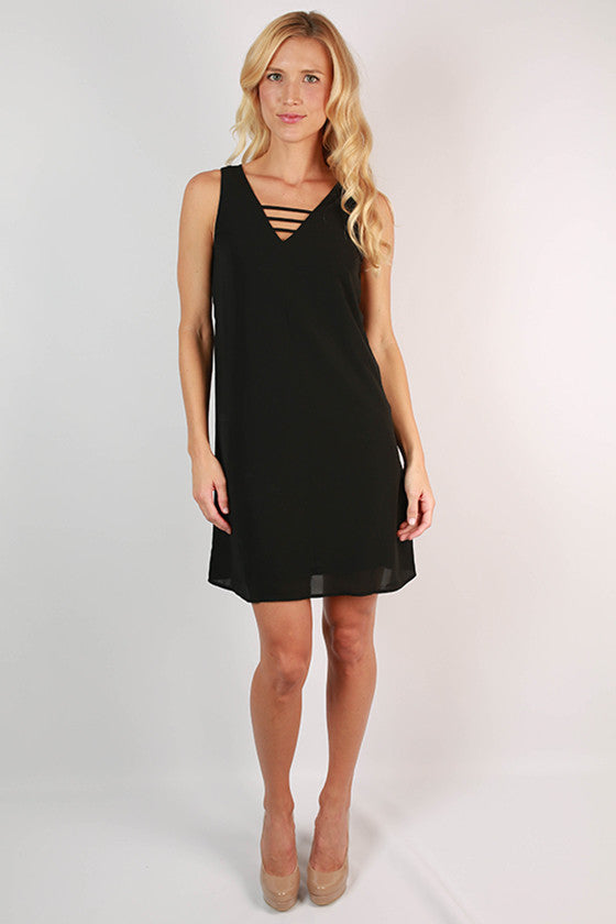 Weekend Ready Shift Dress in Black
