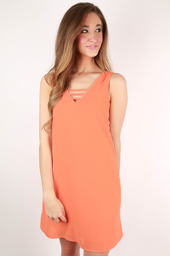 Weekend Ready Shift Dress in Peach