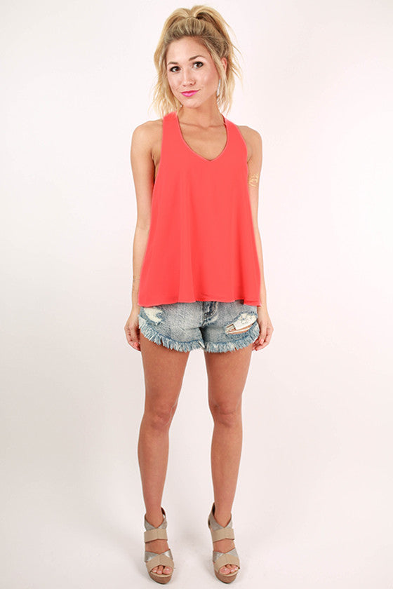 Love My Style Racerback Tank in Neon Pink