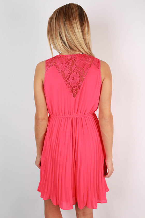 Don't Be Shy Lace Dress in Calypso