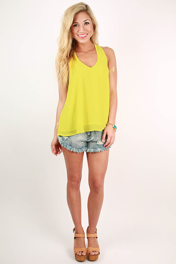Love My Style Racerback Tank in Yellow