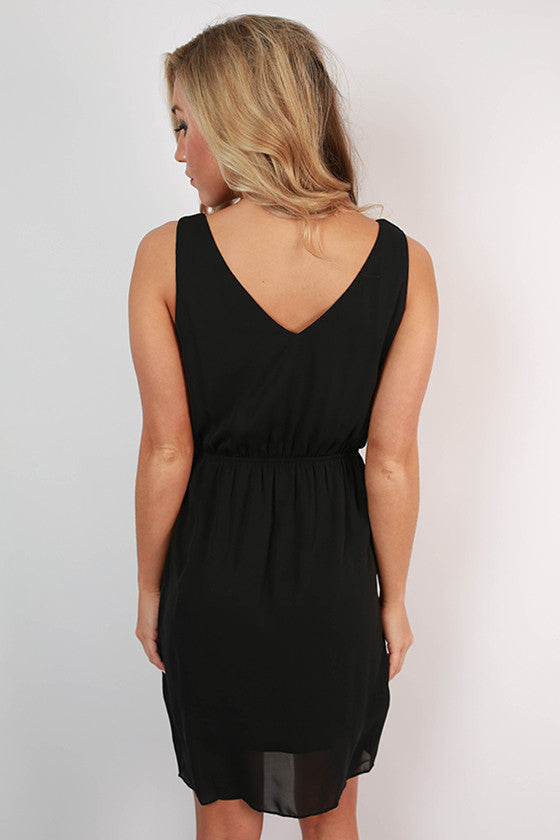 Cheers To Cuteness Dress in Black