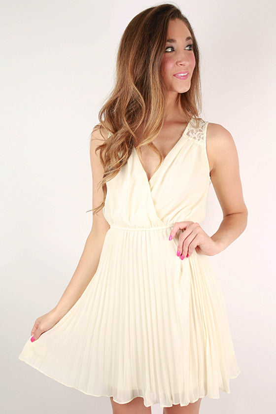 Don't Be Shy Lace Dress in Ivory