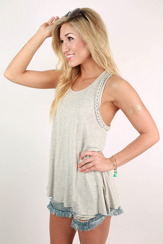 The Good Times Tank in Grey