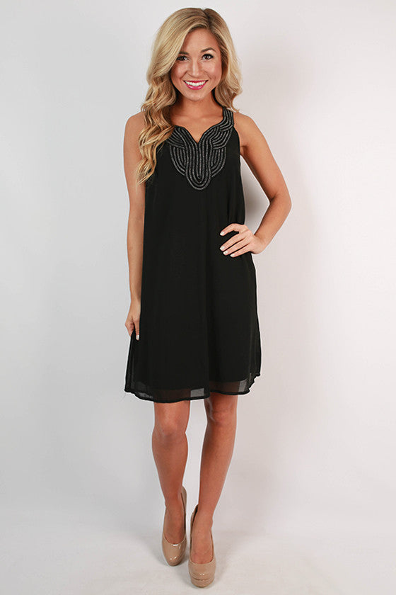 Time For Drinks Dress in Black