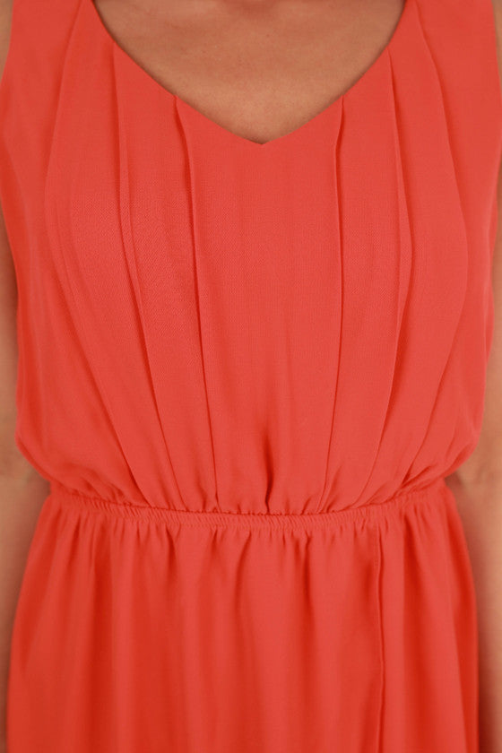 Cheers To Cuteness Dress in Tomato