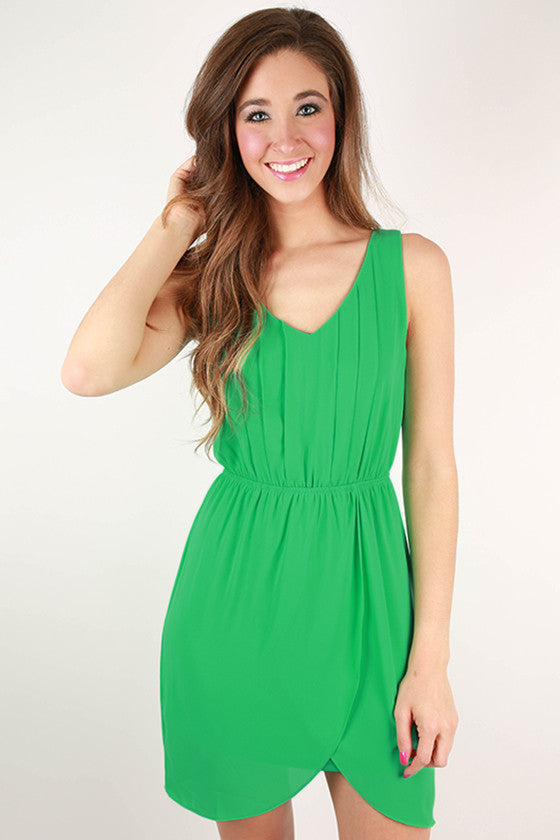 Cheers To Cuteness Dress in Jade