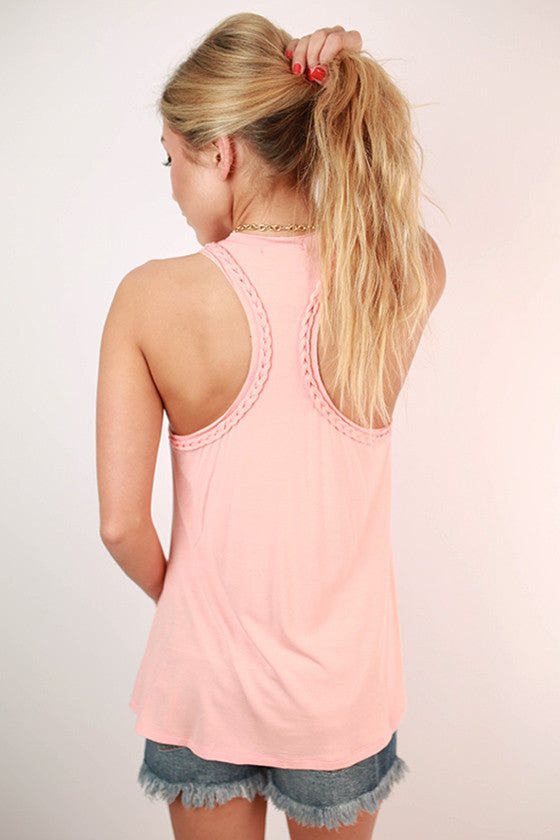 The Good Times Tank in Peach