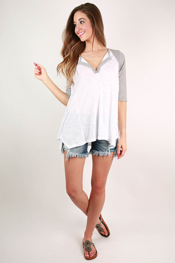 Sunshine Love Top in Grey