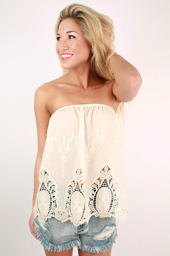 Under The Moonlight Embroidered Top in Ivory