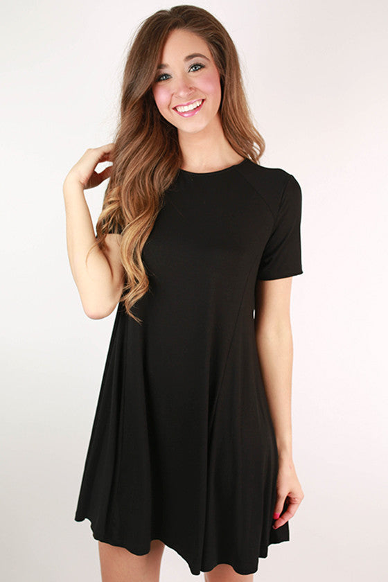 Stay Gorgeous Flare Dress in Black