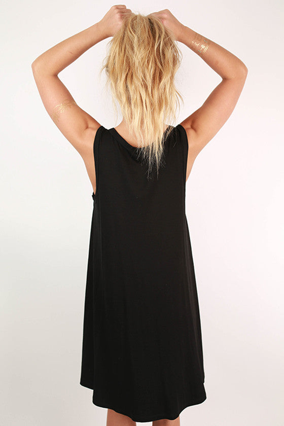 Summer Daze Tank Dress in Black