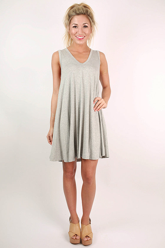 Summer Daze Tank Dress in Grey