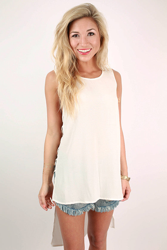 VIP Only Hi-Lo Tank in White