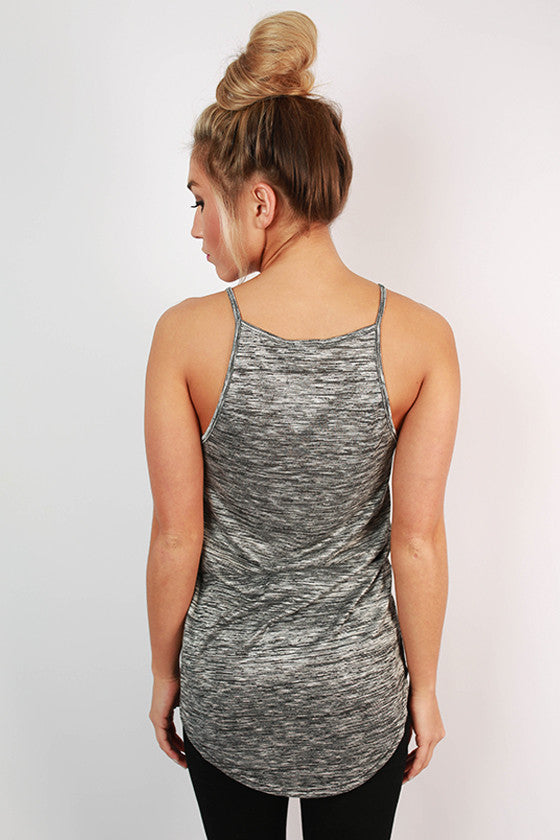 Big City Life Spaghetti Strap Tank in Charcoal