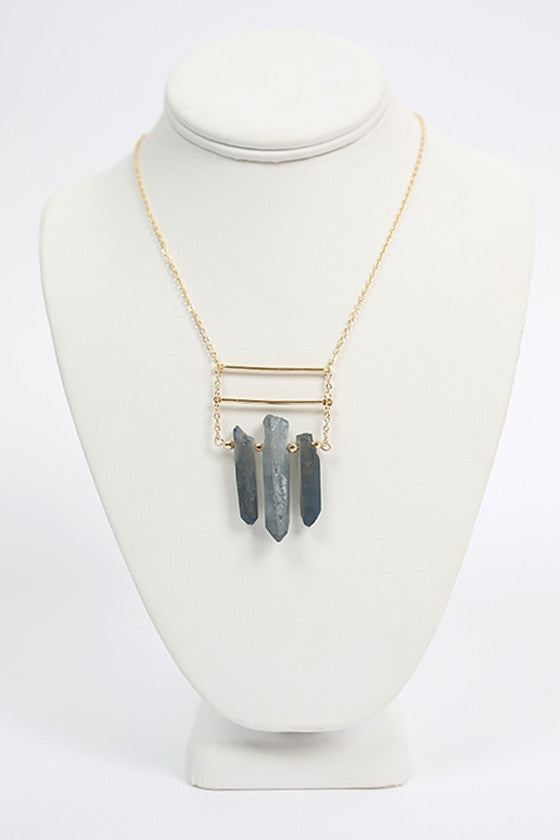 Sass & Class Necklace in Slate
