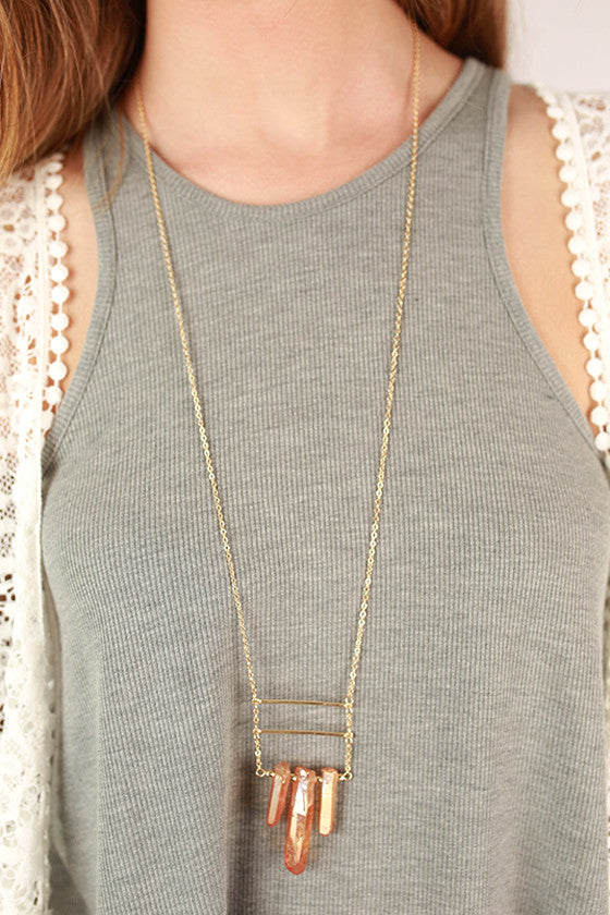 Sass & Class Necklace in Rust